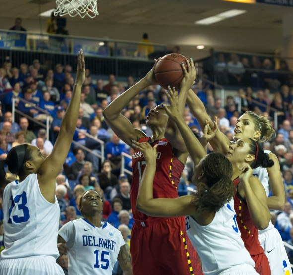 NCAA WOMEN'S BASKETBALL 2012 - DEC 20 - #9 Maryland defeats Delaware 69-53